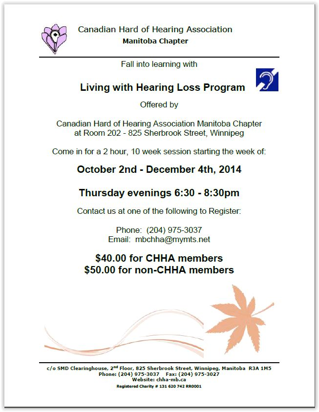 Hearing Loss Program
