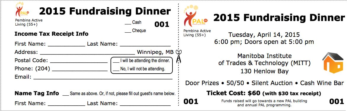 PAL Fund Raiser Dinner Ticket